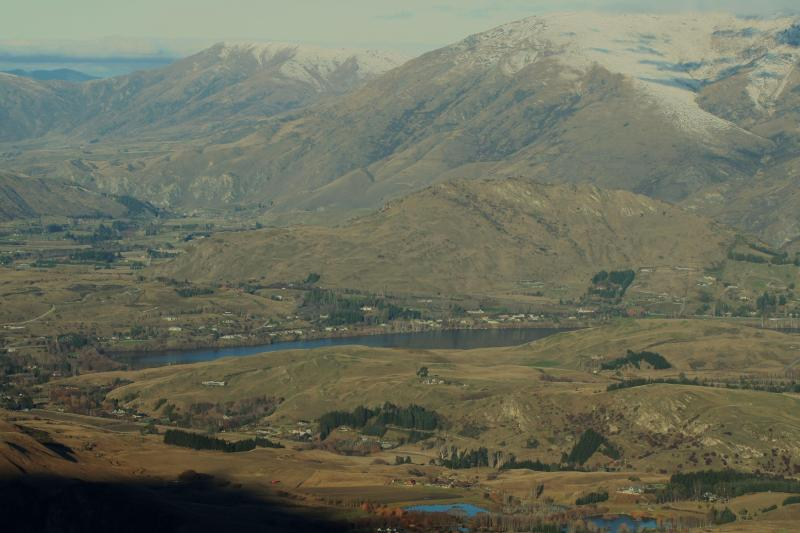 View looking down on Speargrass from Coronet Peak
