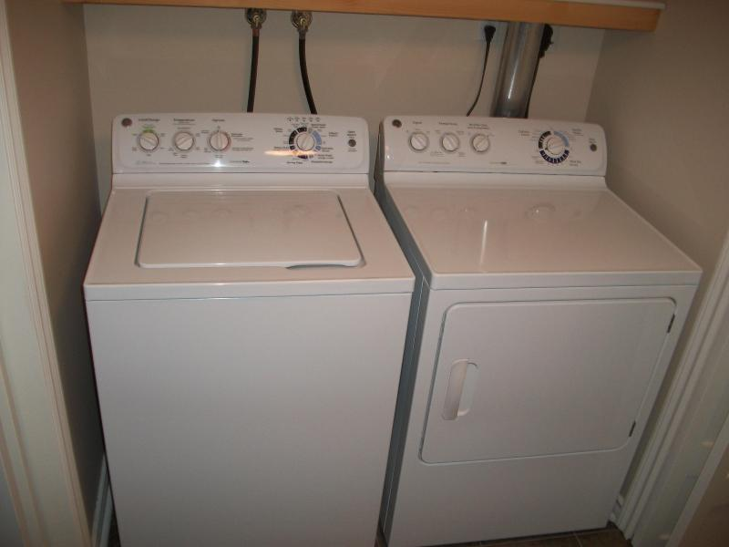 Shared laundry facilities outside of apartment