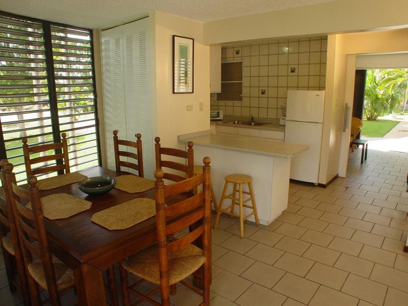 Dining and kitchen view from entrance