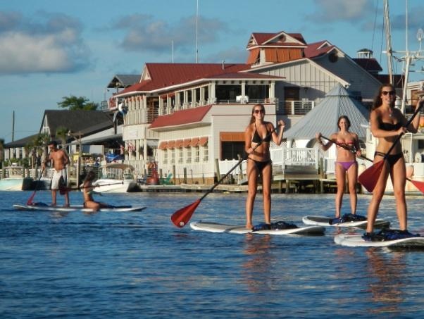 Paddling for fun on Shem creek. Stay and Play.