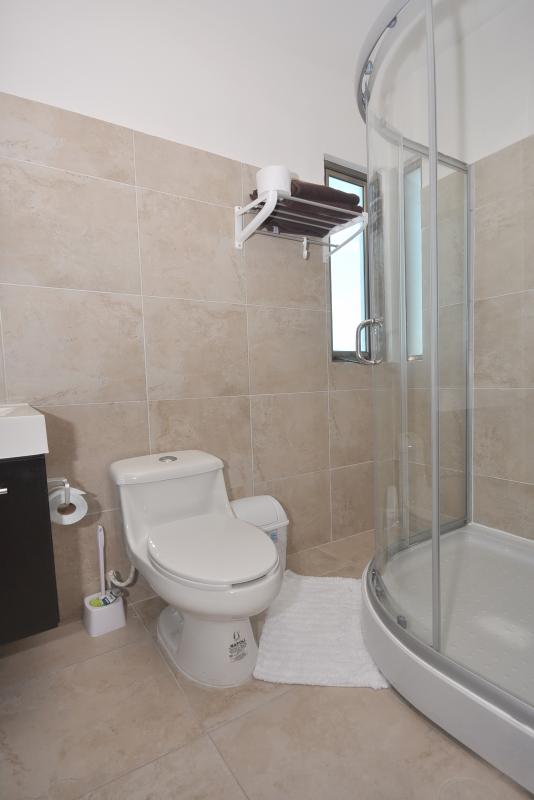 Nice furnished bathrooms with jets for hydromassage