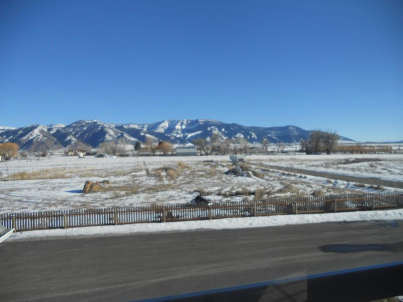 Bridger Mountains - view to the east.