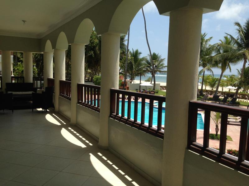 large balcony