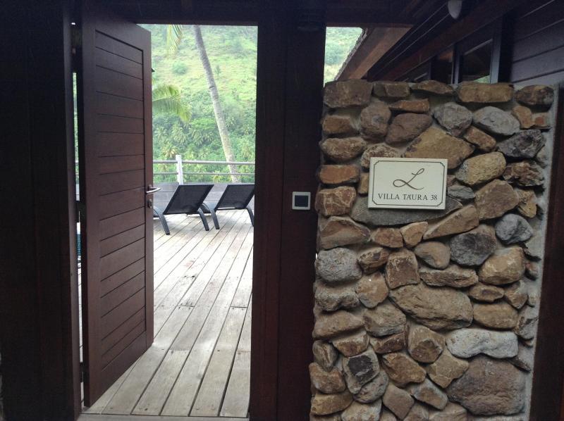 front door onto deck