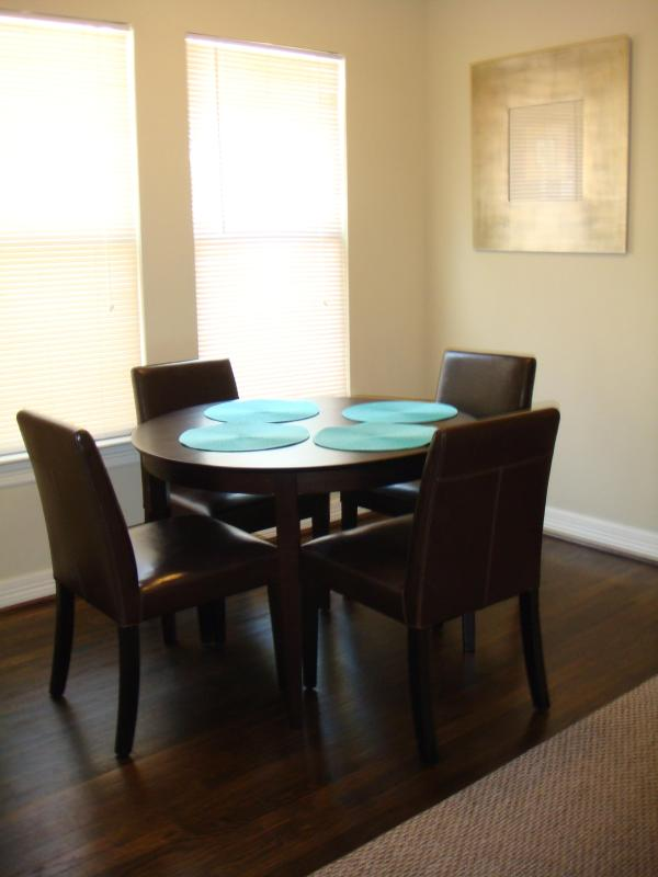 Dining room with seating for 4