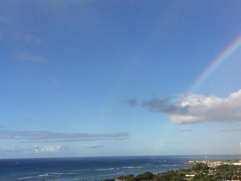 Hermosa vista Rainbow HAWAIIAN desde esta unidad