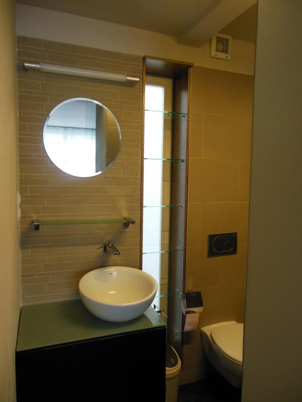 Lavabo avec rangement. Serviettes de toilette fournis.