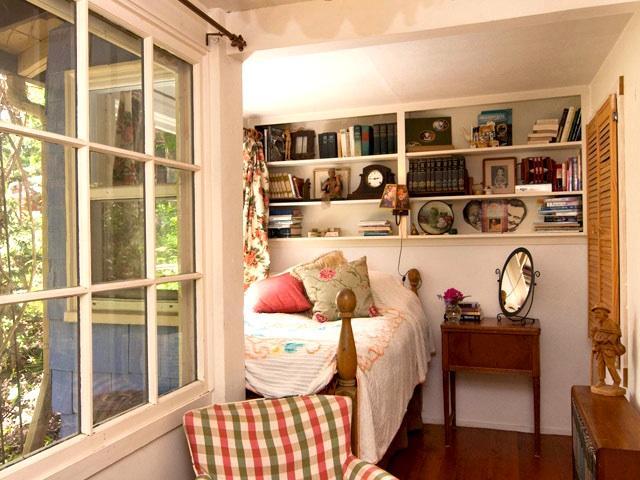 The Rosie Room has it's own door and porch.