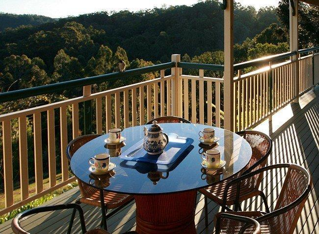 Deck overlooks the Valley