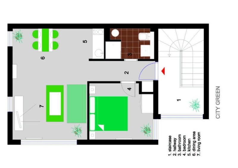 Floormap of apartment