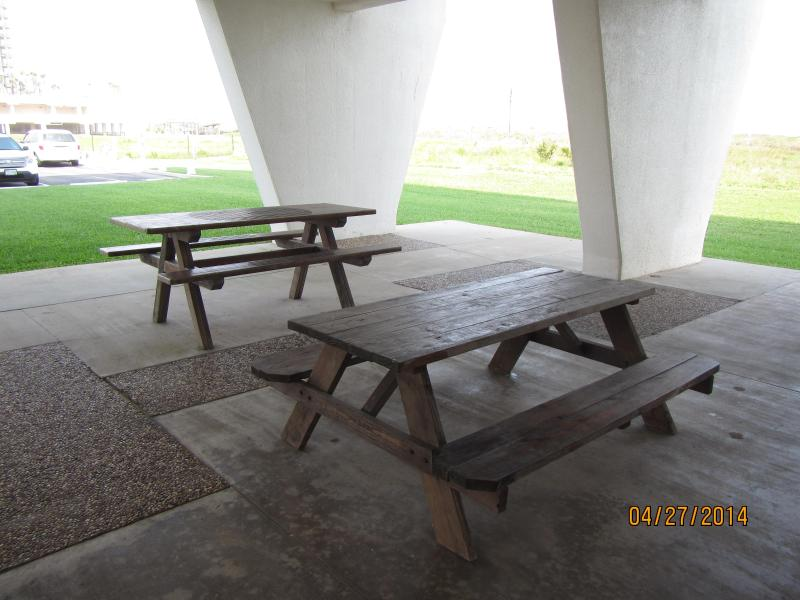 very nice, clean picnic tables by the grills