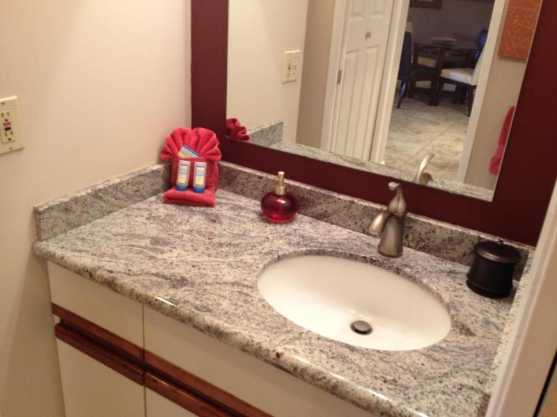 Granite stone sink area
