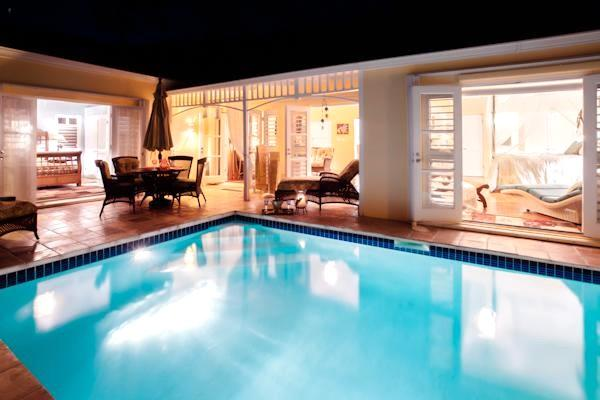 All of the rooms open with french doors into the courtyard/pool area