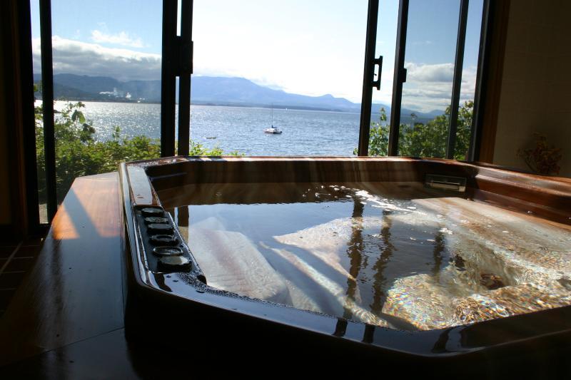 Oceanfront hot tub