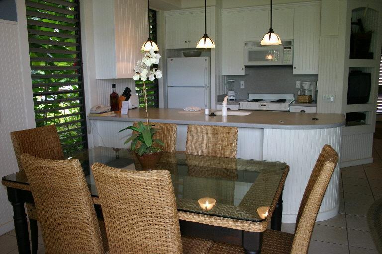 Kitchen table, breakfast nook, and kitchen