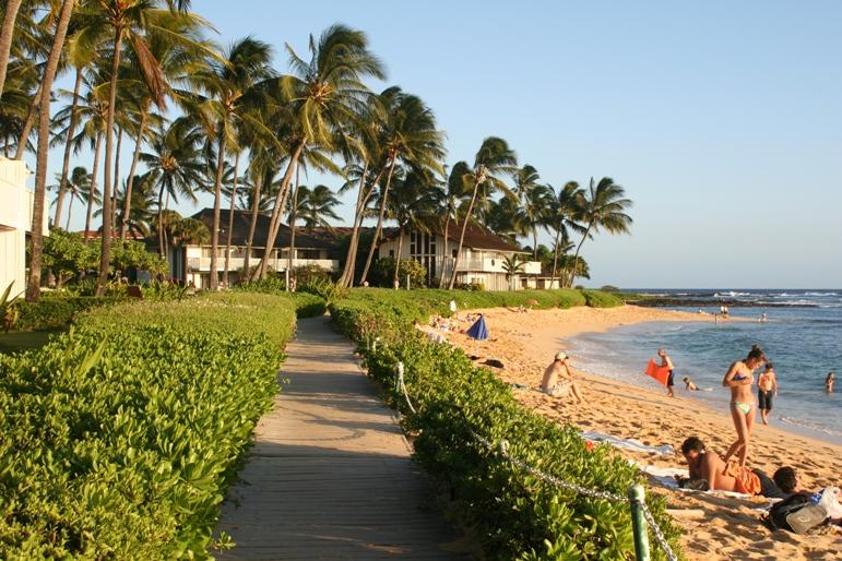 Walkway along the beach. Beach was rated #1 in the world by Travel Channel !!
