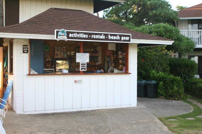 Beach hut - check-out beach chairs & towels, rent beach gear & get yummy snacks!