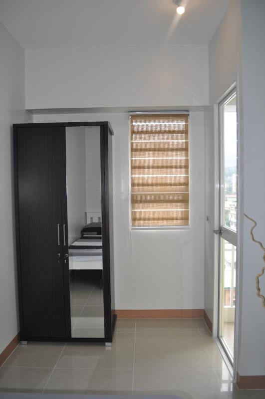 Wardrobe with built in mirror