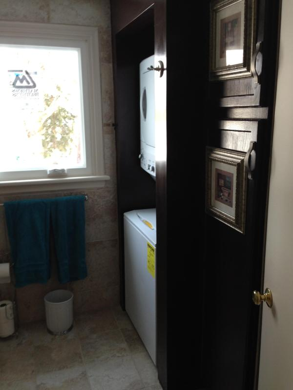 Washer  / Dryer and Linen Closet