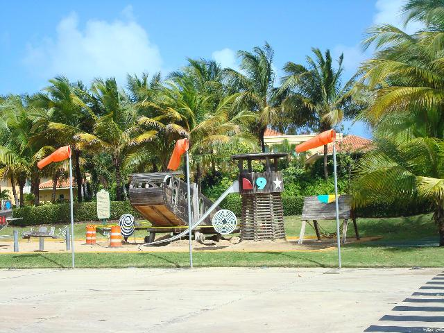 Quick golf cart ride to the Dorado Beach East Waterpark and playground