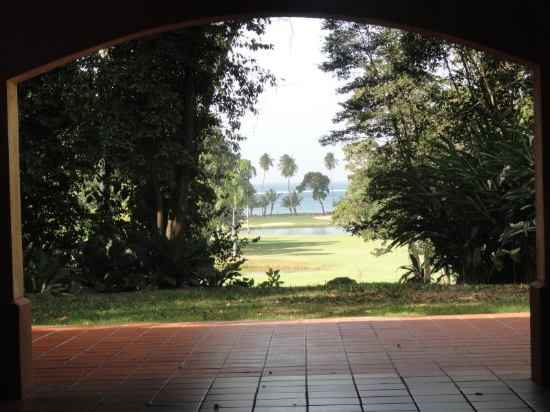 Clubhouse view to ocean at the resort