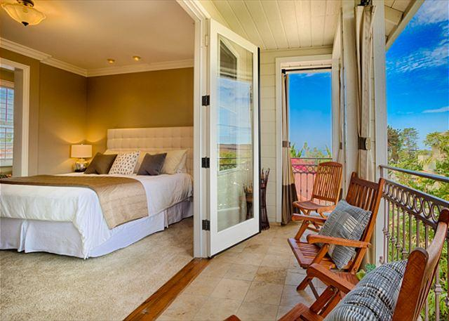 Ocean outlook deck in the master suite of the Bella Vista paradise!