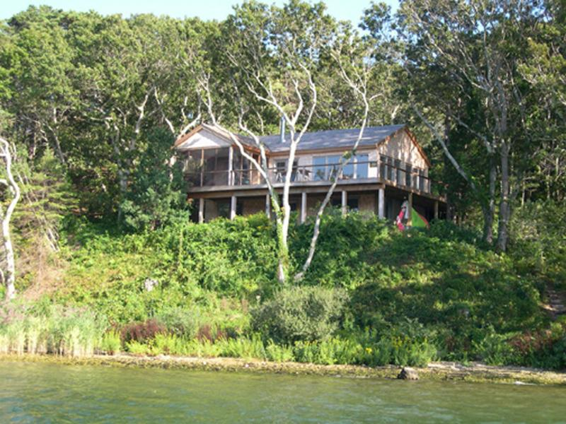 Distant view of house from boat
