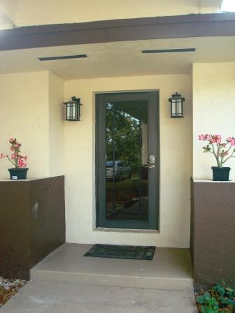 Guest house entrance door