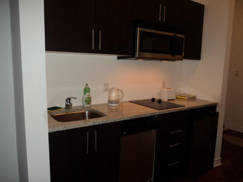 Kitchen w Dishwasher, MW, small appliaces, pots and pans and  +
