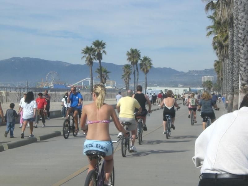 Bicycle Riding on Venice Beach