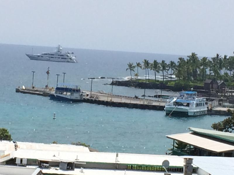 SEE THE PIER FROM THE POOL AND DECK AREA - PAUL ALLENS YACHT