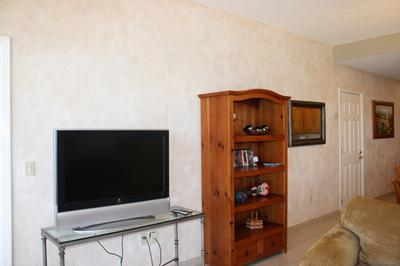 Flat Screen TV with DVD player and collection of DVDs