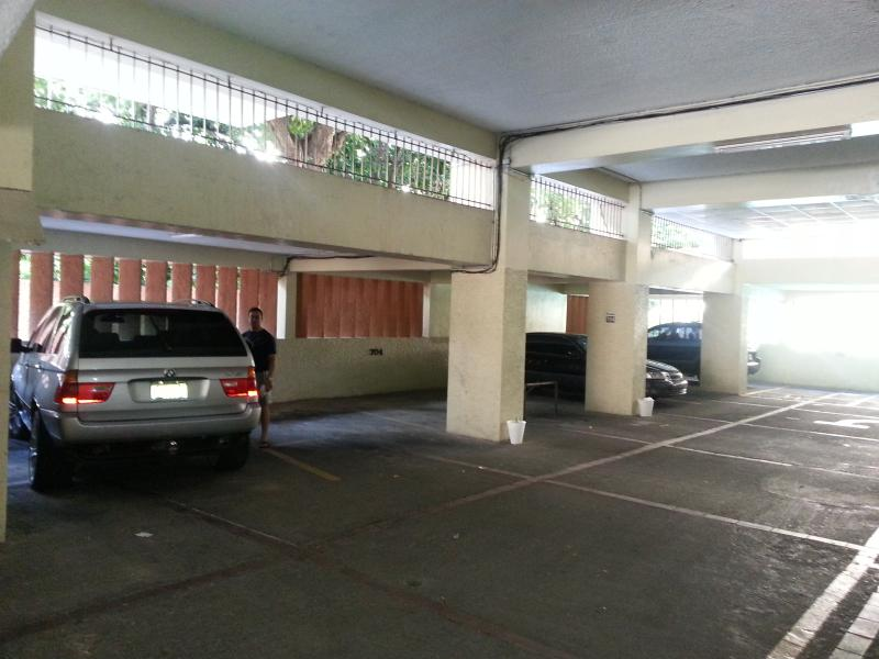 inside Parking garage for two cars