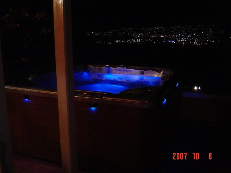 Night View from Hot Tub Overlooking Montego Bay