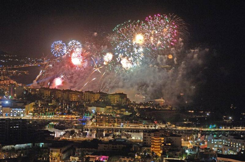 All the resorts in Cabo provide firework shows on New Years Eve.