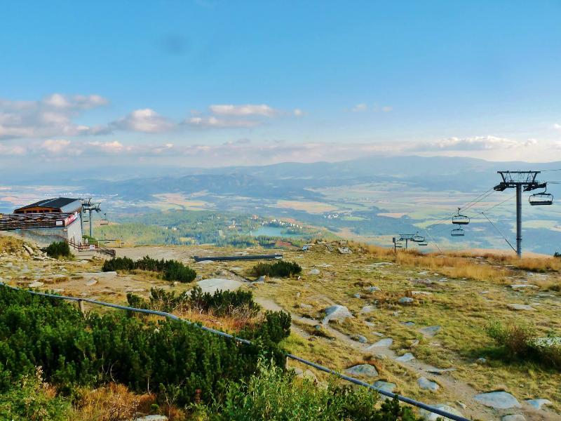 Solisko peek with a view of Strbske Pleso