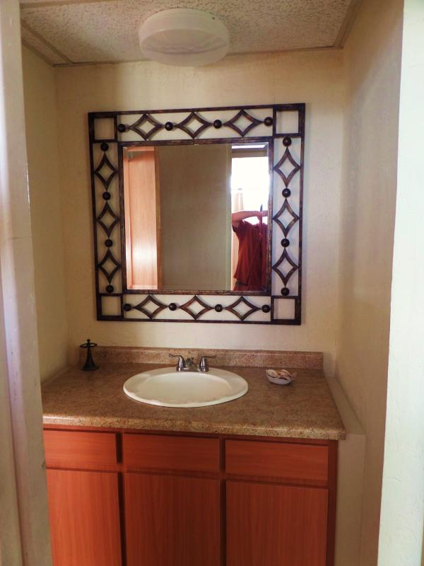 vanity separate from bathroom