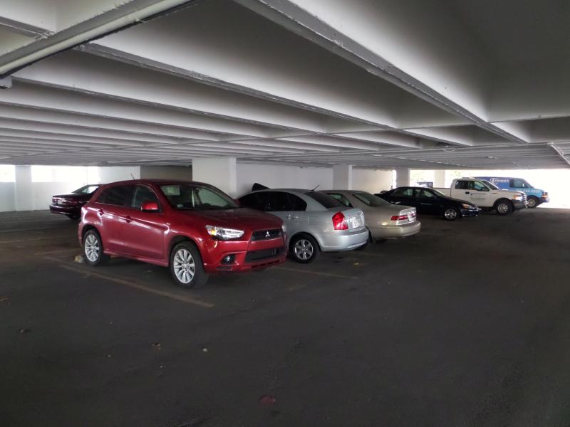 covered parking space