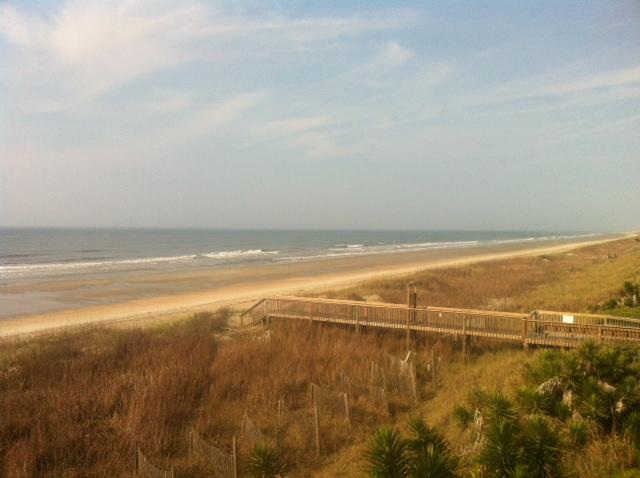View from Deck - long wide sandy beach!