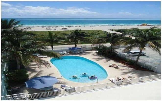 Direct access to beach from pool area.