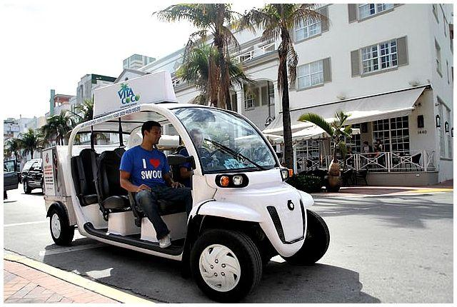 Free shuttle service around South Beach .