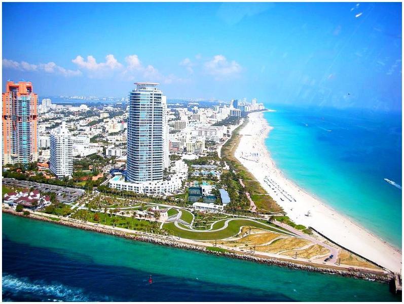 Aerial view condominiums South Pointe Park