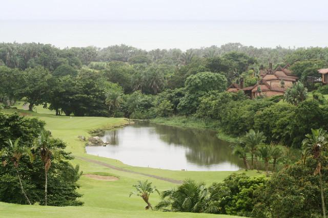 Golf course and sea view