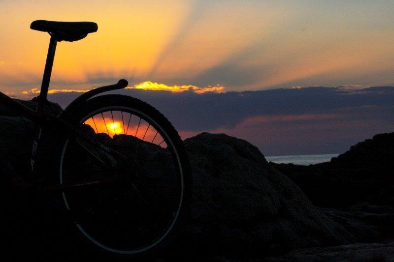 Bicycle at sunrise