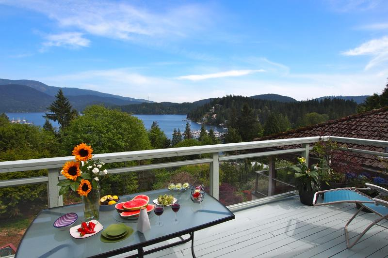 Main Large Deck and View of Deep Cove