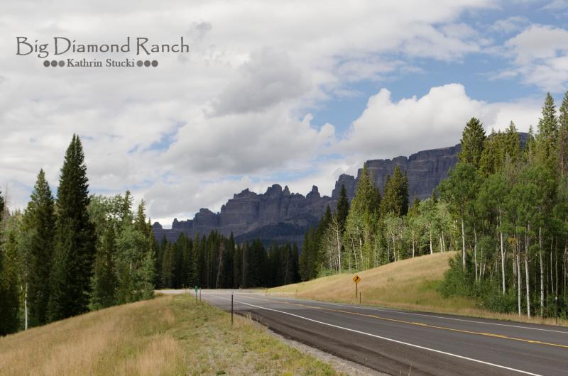 Op de weg van de Big Diamond Ranch