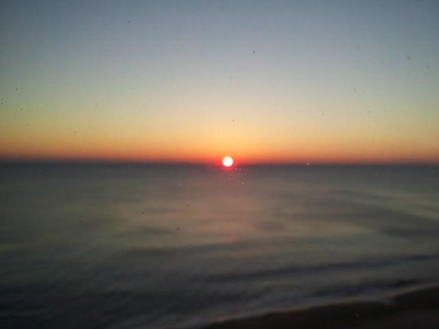 Lever du soleil depuis le balcon