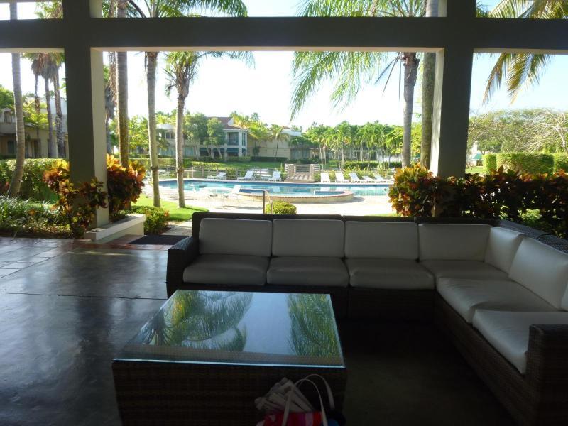 Gazebo area and main swimming pool