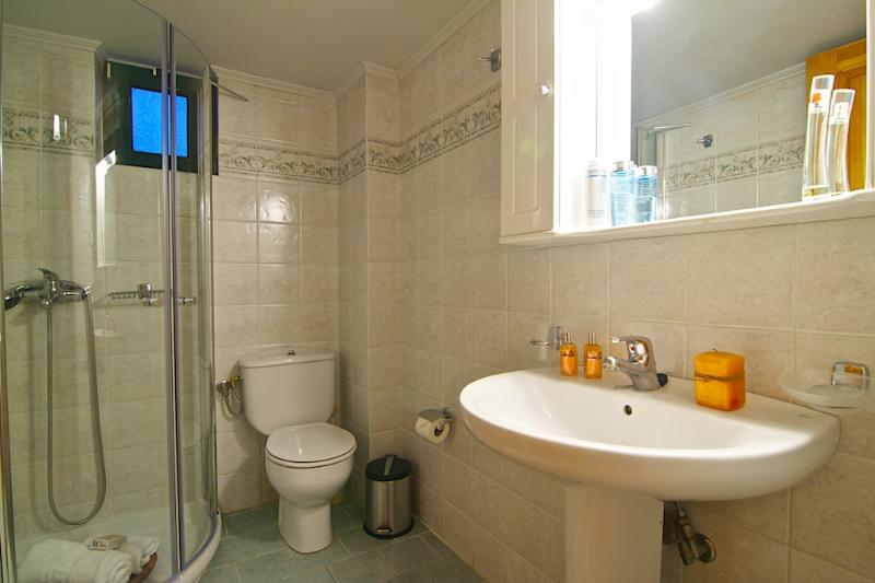 Bathroom with shower!