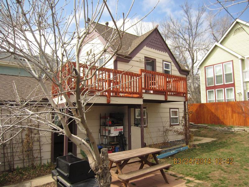 Full fenced yard with 2 grills